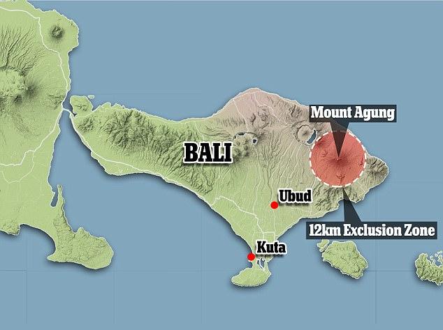 Mt Agung Blast Radius